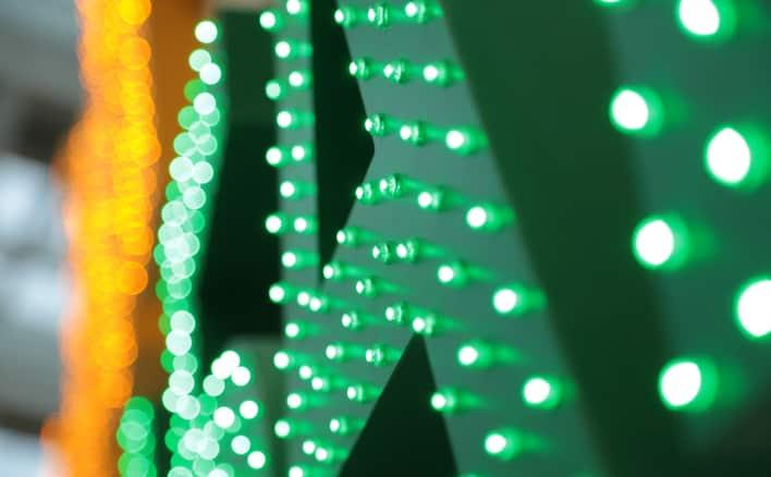 Стоимость объемных букв с пиксельными светодиодами